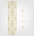 arabesque elegant classic gold background border