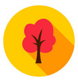 autumn tree circle icon vector image vector image