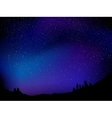 Background with night stars vector image vector image