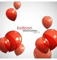background with red balloons
