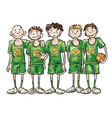 basketball team vector image vector image
