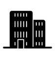 building solid icon architecture vector image