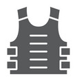 bulletproof vest glyph icon defense and army vector image