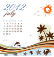 calendar for 2012 july vector image vector image