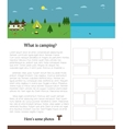 Camping template with text Outdoors Summer vector image vector image