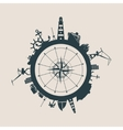 Cargo port and travel relative silhouettes vector image vector image