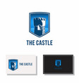 castle tower logo isolated medieval vector image vector image
