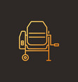 cement mixer concept colored outline icon vector image vector image