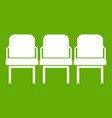 chairs in the departure hall icon green vector image vector image