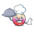 chef with food jelly ring candy mascot cartoon vector image vector image