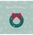 Christmas wreath garland on winter backdrop vector image vector image