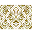 classic damask background vector image vector image