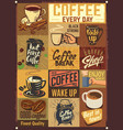 coffee emblems vector image vector image