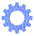 cogwheel composition of dash currency icons vector image vector image