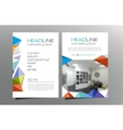 Colorful triangle brochure flyer template design vector image vector image