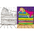 Colouring Book Of Sleeping Beauty vector image