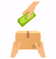 concept for delivery service cash on delivery vector image vector image