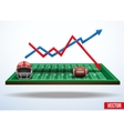 Concept of statistics about the game of football vector image vector image