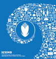 Corn icon sign Nice set of beautiful icons twisted vector image vector image