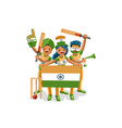 cricket indian league cup vector image