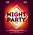 dance club night party flyer template vector image vector image