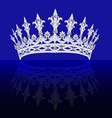 diadem feminine with reflection on turn blue backg vector image vector image