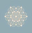 elegant golden knot sign elegant golden floral vector image vector image