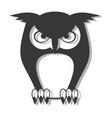 elegant owl symbol vector image
