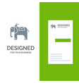 elephant animal grey logo design and business vector image vector image