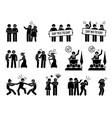 gay man social problems and life hurdles depict vector image vector image