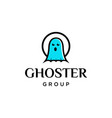ghost logo vector image vector image