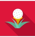 Golf ball icon flat style vector image vector image