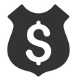 Guard Price Flat Icon vector image