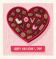 heart shaped valentines day candy box vector image vector image