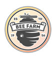 honey farm vintage isolated label vector image vector image
