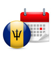 Icon of national day in barbados vector image vector image