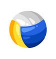 icon volleyball in flat style vector image