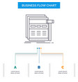 internet page web webpage wireframe business flow vector image vector image