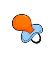 kids soother icon newborn bimbo accessory vector image
