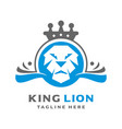 lion kings logo vector image vector image