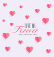 lovely hearts background pattern design vector image vector image