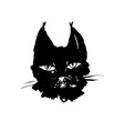 lynx head modern ink brush drawing animal vector image vector image