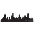 Melbourne australia skyline detailed silhouette vector | Price: 1 Credit (USD $1)