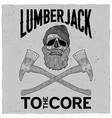 monochrome lumberjack poster vector image