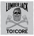 monochrome lumberjack poster vector image vector image