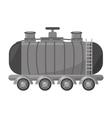 oil tanker truck transport vector image vector image