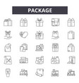 package line icons signs set linear vector image