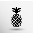 Pineapple closeup cartoon sketch hand drawn vector image