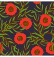 Poppy flower seamless pattern vector image vector image