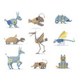 robotics animals set vector image vector image